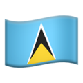 Flag: St. Lucia on Apple iOS 12.2