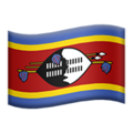 Flag: Swaziland on Apple iOS 12.2