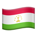 Flag: Tajikistan on Apple iOS 12.2
