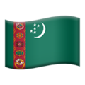 Flag: Turkmenistan on Apple iOS 12.2