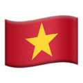 Flag: Vietnam on Apple iOS 12.2