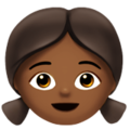 Girl: Medium-Dark Skin Tone on Apple iOS 12.2