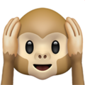 Hear-No-Evil Monkey on Apple iOS 12.2
