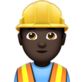 Man Construction Worker: Dark Skin Tone on Apple iOS 12.2