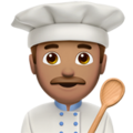 Man Cook: Medium Skin Tone on Apple iOS 12.2