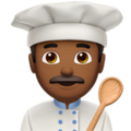 Man Cook: Medium-Dark Skin Tone on Apple iOS 12.2