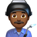 Man Factory Worker: Medium-Dark Skin Tone on Apple iOS 12.2