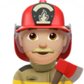Man Firefighter: Medium-Light Skin Tone on Apple iOS 12.2