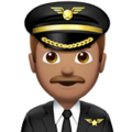 Man Pilot: Medium Skin Tone on Apple iOS 12.2