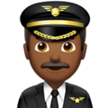 Man Pilot: Medium-Dark Skin Tone on Apple iOS 12.2