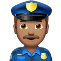 Man Police Officer: Medium Skin Tone on Apple iOS 12.2