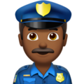 Man Police Officer: Medium-Dark Skin Tone on Apple iOS 12.2
