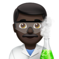 Man Scientist: Dark Skin Tone on Apple iOS 12.2