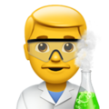 Man Scientist on Apple iOS 12.2