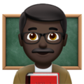 Man Teacher: Dark Skin Tone on Apple iOS 12.2