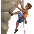 Man Climbing: Medium Skin Tone on Apple iOS 12.2