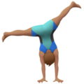 Man Cartwheeling: Medium Skin Tone on Apple iOS 12.2