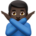 Man Gesturing No: Dark Skin Tone on Apple iOS 12.2