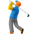 Man Golfing on Apple iOS 12.2
