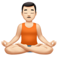 Man in Lotus Position: Light Skin Tone on Apple iOS 12.2