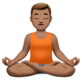 Man in Lotus Position: Medium Skin Tone on Apple iOS 12.2