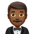 Man in Tuxedo: Medium-Dark Skin Tone on Apple iOS 12.2