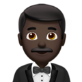 Man in Tuxedo: Dark Skin Tone on Apple iOS 12.2