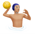 Man Playing Water Polo: Medium-Light Skin Tone on Apple iOS 12.2