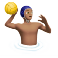 Man Playing Water Polo: Medium Skin Tone on Apple iOS 12.2