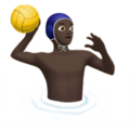 Man Playing Water Polo: Dark Skin Tone on Apple iOS 12.2