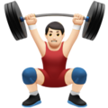 Man Lifting Weights: Light Skin Tone on Apple iOS 12.2