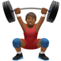 Man Lifting Weights: Medium-Dark Skin Tone on Apple iOS 12.2