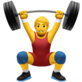 Man Lifting Weights on Apple iOS 12.2