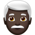 Man: Dark Skin Tone, White Hair on Apple iOS 12.2