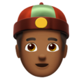 Man With Chinese Cap: Medium-Dark Skin Tone on Apple iOS 12.2