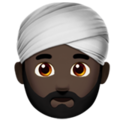 Person Wearing Turban: Dark Skin Tone on Apple iOS 12.2