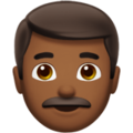 Man: Medium-Dark Skin Tone on Apple iOS 12.2
