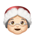 Mrs. Claus: Light Skin Tone on Apple iOS 12.2