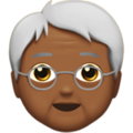 Older Person: Medium-Dark Skin Tone on Apple iOS 12.2