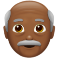 Old Man: Medium-Dark Skin Tone on Apple iOS 12.2