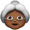 Old Woman: Medium-Dark Skin Tone on Apple iOS 12.2