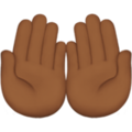 Palms Up Together: Medium-Dark Skin Tone on Apple iOS 12.2