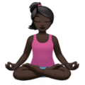 Person in Lotus Position: Dark Skin Tone on Apple iOS 12.2