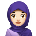 Woman With Headscarf: Light Skin Tone on Apple iOS 12.2
