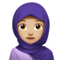 Woman With Headscarf: Medium-Light Skin Tone on Apple iOS 12.2