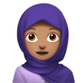 Woman With Headscarf: Medium Skin Tone on Apple iOS 12.2