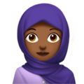Woman With Headscarf: Medium-Dark Skin Tone on Apple iOS 12.2