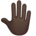 Raised Back of Hand: Dark Skin Tone on Apple iOS 12.2