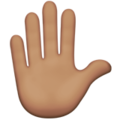 Raised Hand: Medium Skin Tone on Apple iOS 12.2