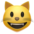 Grinning Cat Face on Apple iOS 12.2